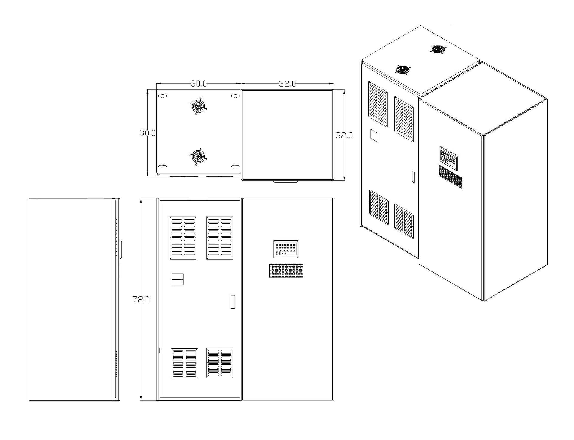 Line Drawing Dimensions
